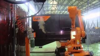 Плазменная резка стойки npomediana роботом ABB(, 2015-03-12T15:52:00.000Z)