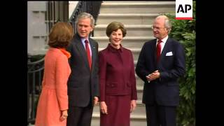 Swedish King and Queen meet US Pres Bush and Laura Bush
