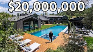 Touring a $20,000,000 Hidden Hills Modern Mega Mansion with an Incredible Guest House!
