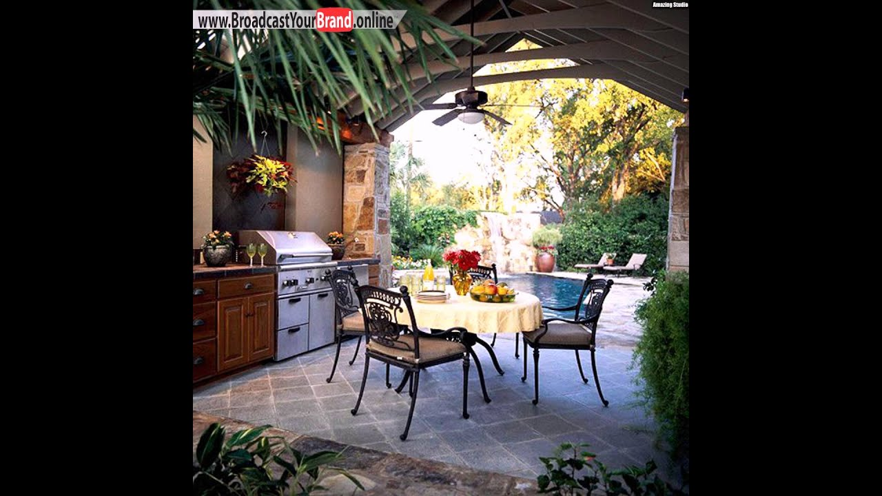 garten mit pool gestalten outdoor k che youtube. Black Bedroom Furniture Sets. Home Design Ideas