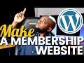 How to make a membership website with WordPress 2020