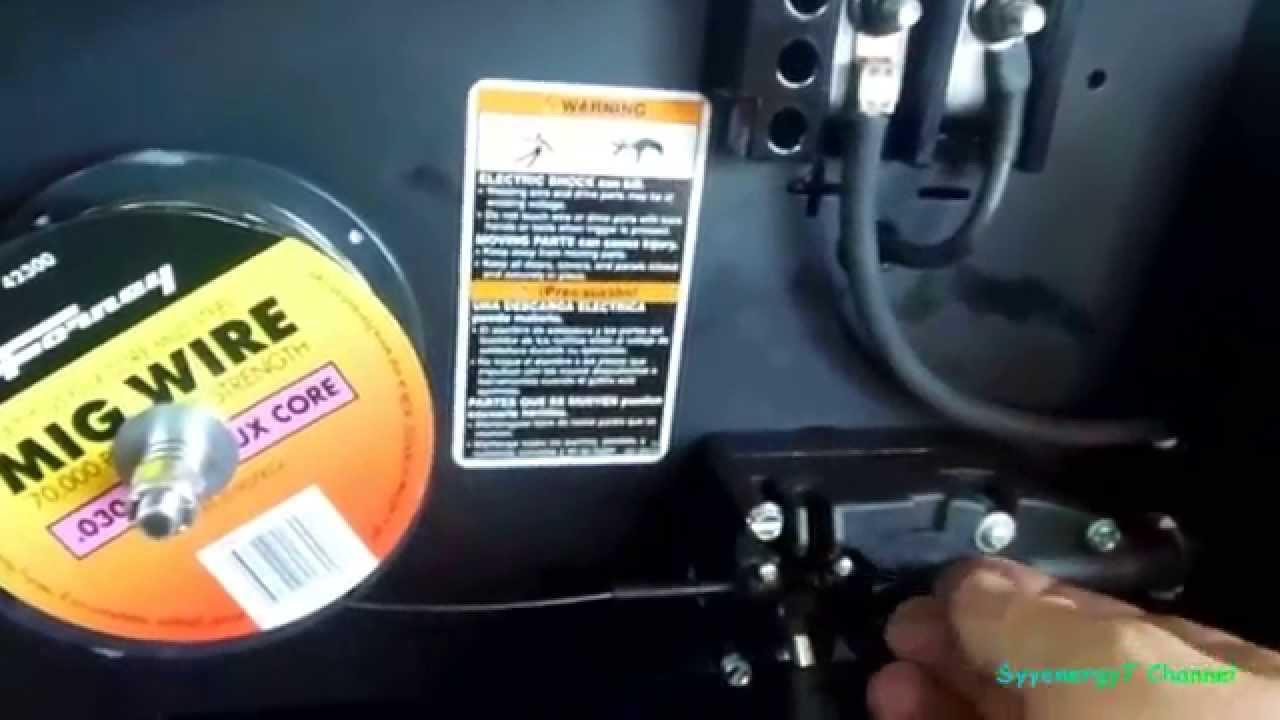 Hobart 125 mig flux Welder Setup & test - YouTube