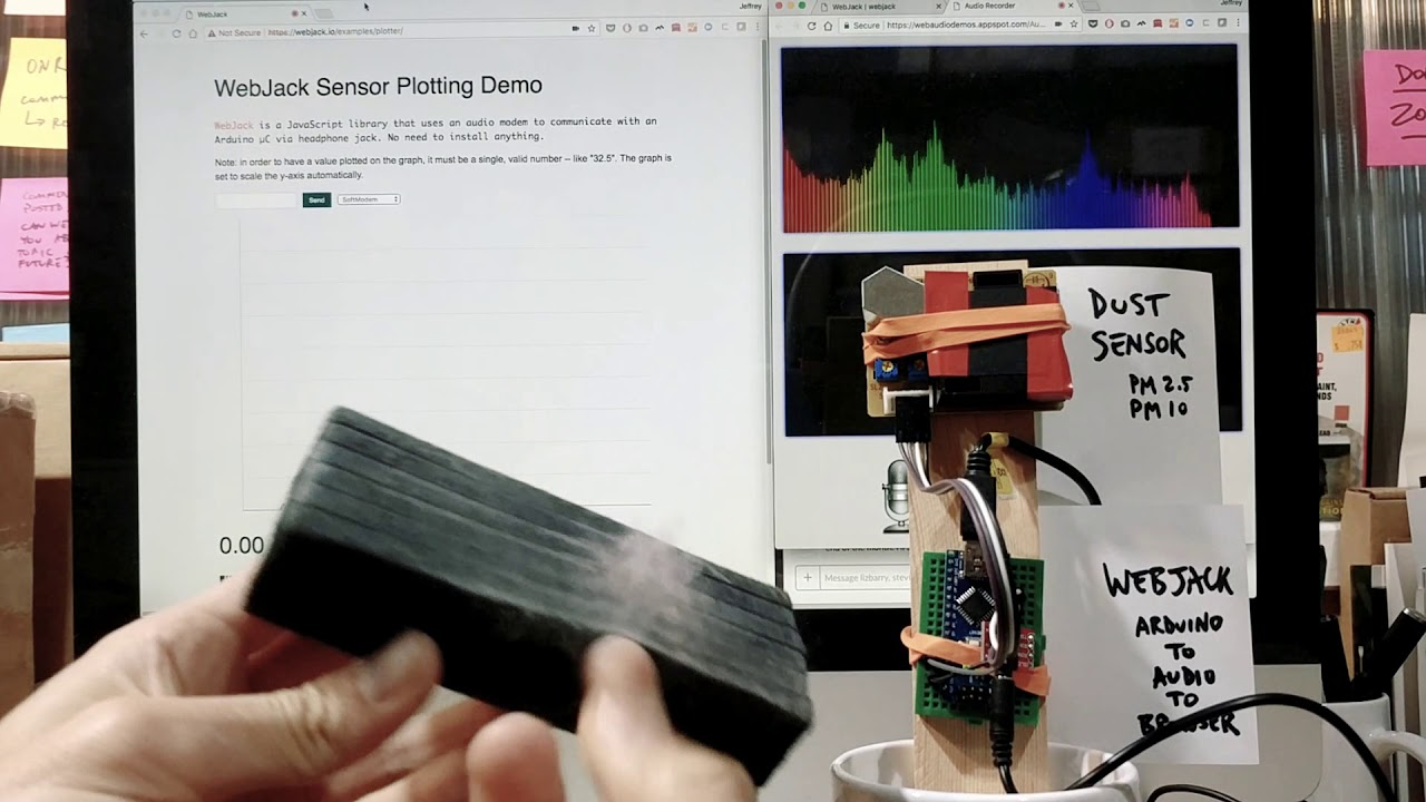 🎈 Public Lab: Visualize live sensor data with p5js and an