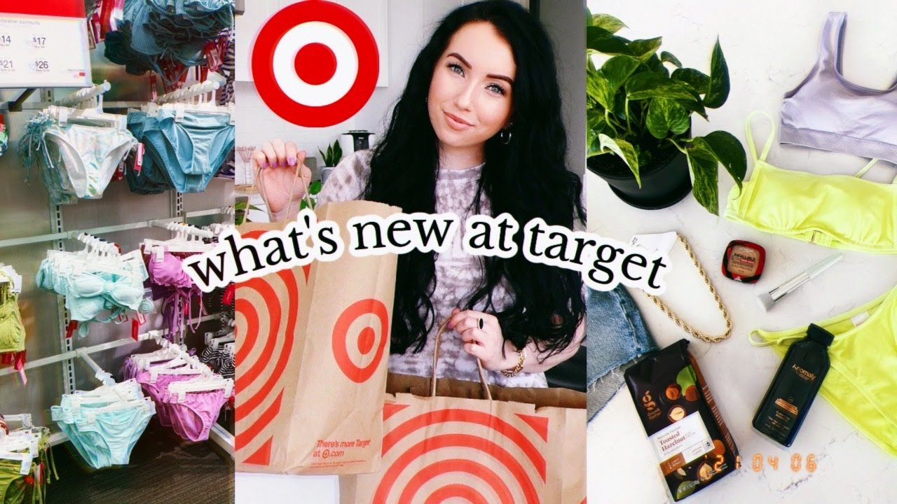 WHAT'S NEW AT TARGET SPRING 2021 🎯  huge haul & try on! best bra, beauty, clothes, food...