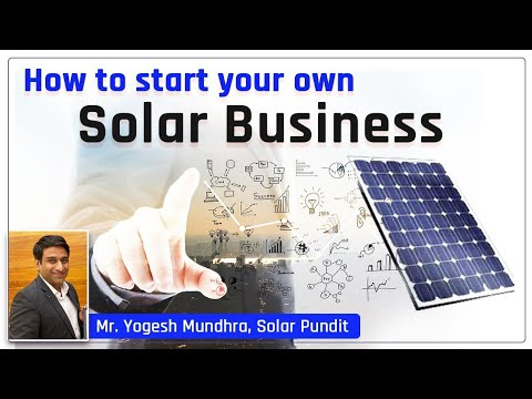 Best Solar Business Opportunities | How to Start Solar business?