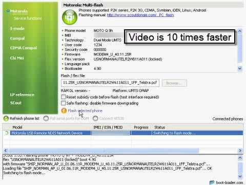Motorola Q series flashing manual