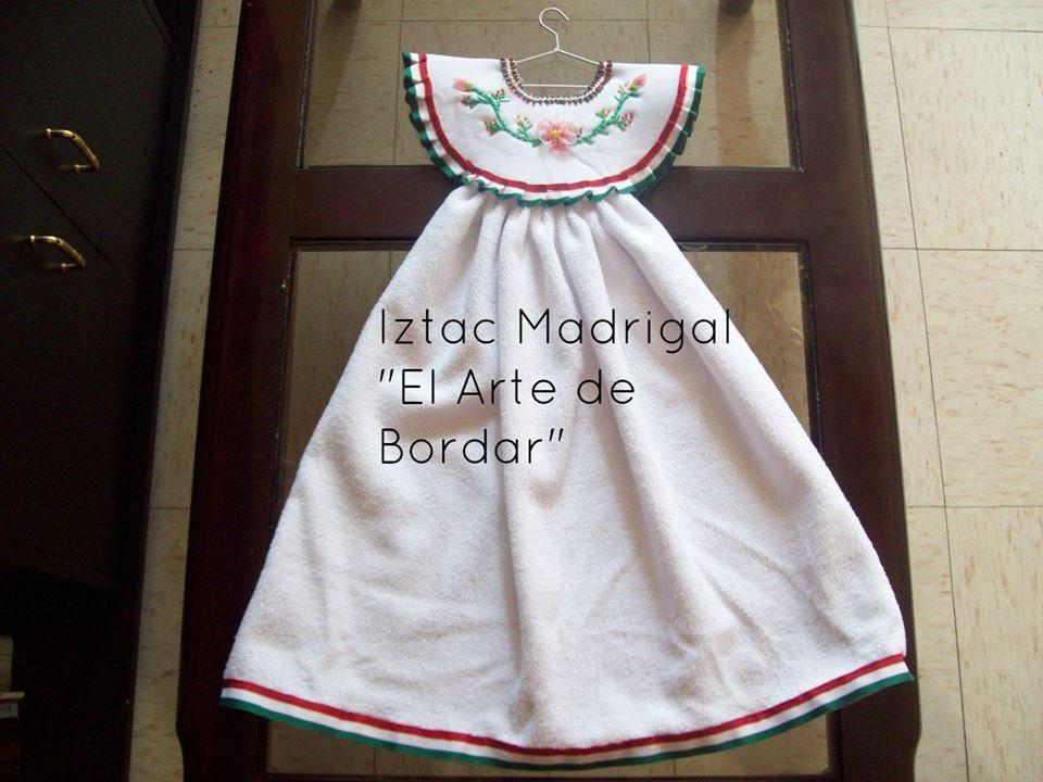 56.- Vestido toallero 1era. parte. Iztac Madrigal - YouTube