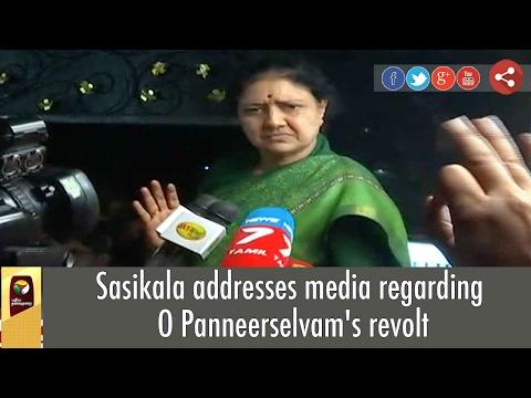 VK Sasikala's Press Meet on O Panneerselvam's Allegations against her