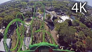 The Monster front seat on-ride 4K POV Adventureland Iowa