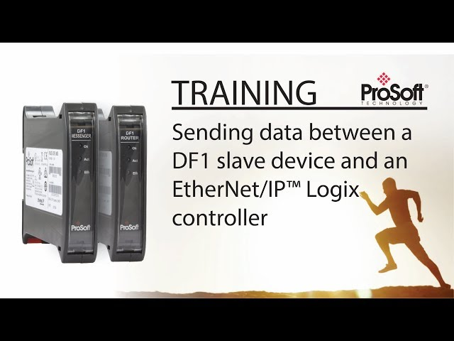 Set Up: Sending data between a DF1 slave device and an EtherNet/IP™ Logix controller
