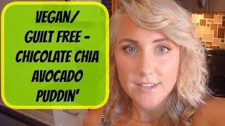 Meowza's Chocolate Chia Avacado Puddin' - Vegan/guilt Free
