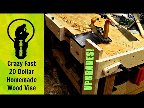 Crazy Fast 20 dollar Homemade Quick Vise!  Upgrades!