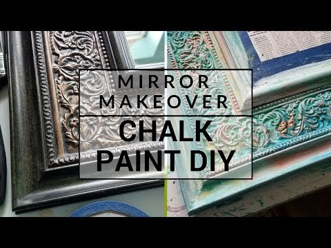 Cheap Mirror Makeover | Using Chalk Paint (Step by Step)