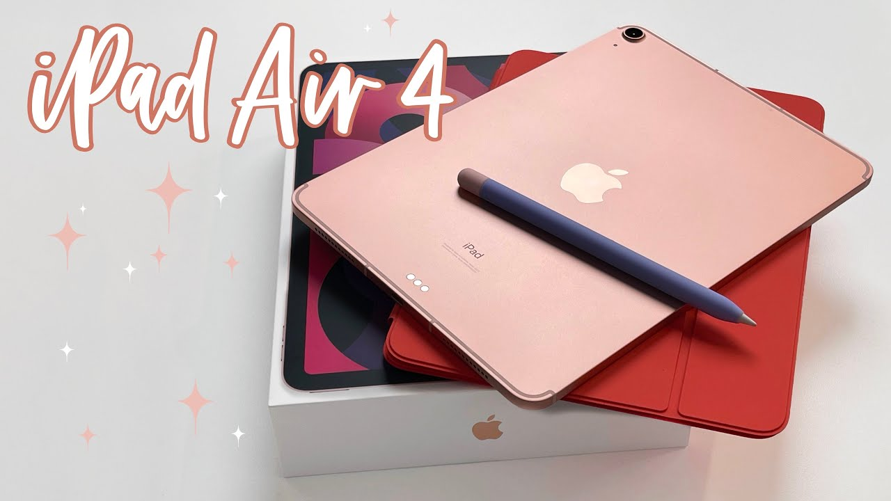 iPad Air 4 ROSE GOLD - unboxing & first look 💕