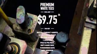 Custom T-shirt Private Label Special Starting $9.75 each