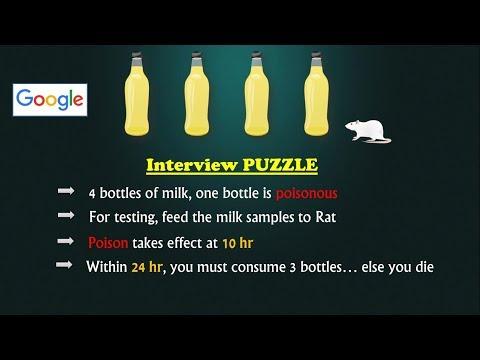 Google Interview Puzzle | Poisonous Milk Bottle | Simple Yet Tricky
