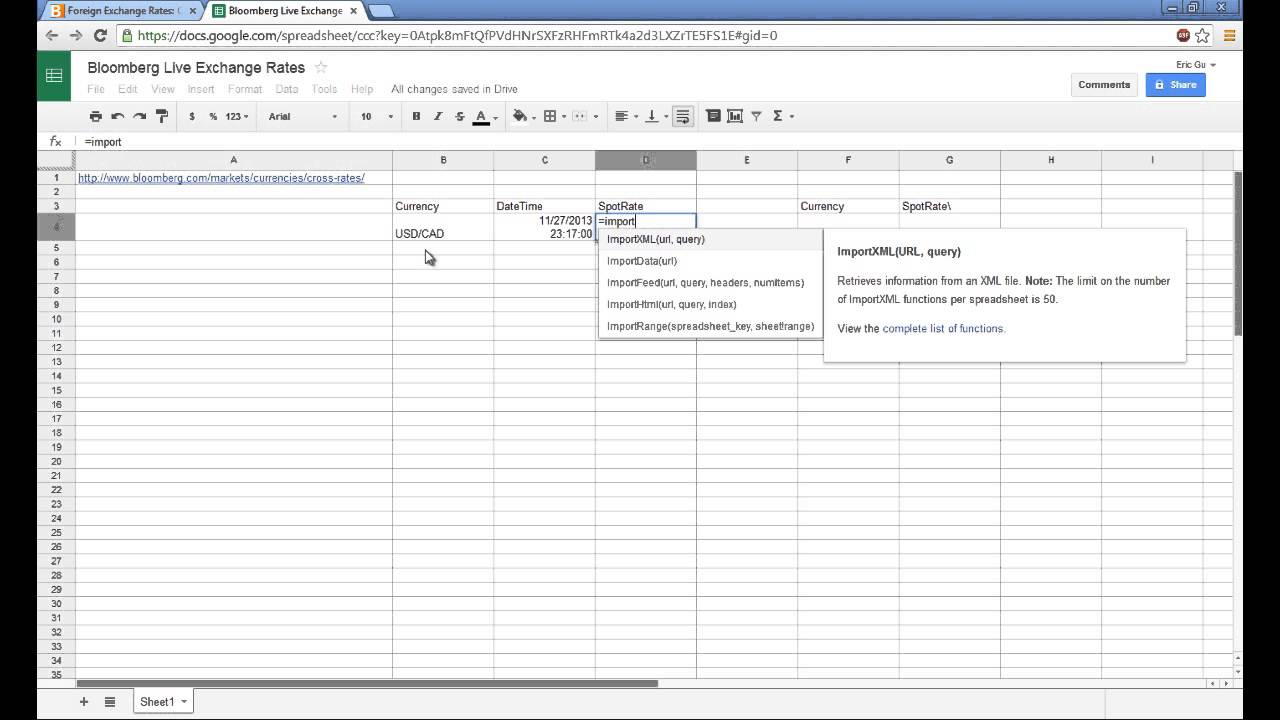 How To Scrape Data From The Web Using Google Spreadsheet Youtube