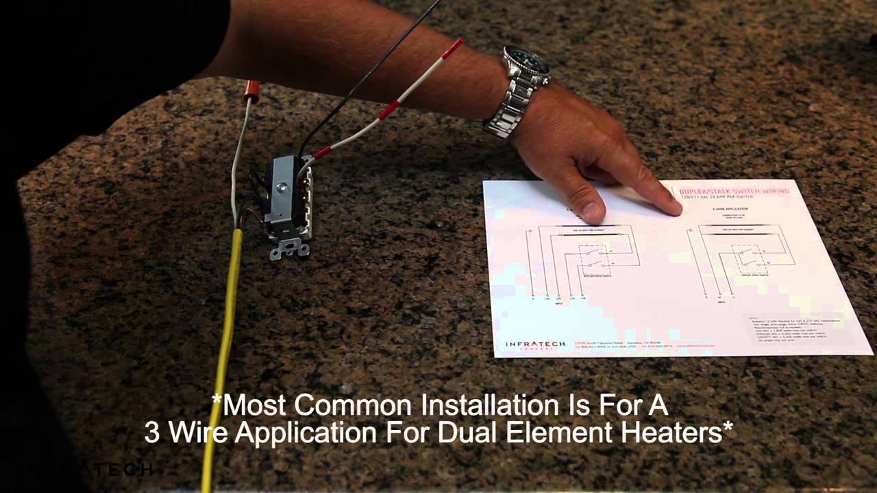 maxresdefault how to install infratech duplex stack switch assemblies youtube infratech heaters wiring diagrams at mr168.co