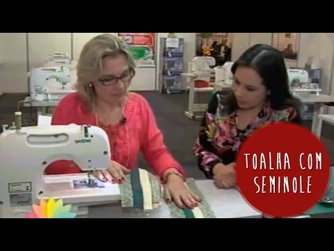 Toalha com aplicação de Seminole e Entrevista com Ana Consentino