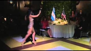 President Obama dancing the Tango at the Argentina State Dinner