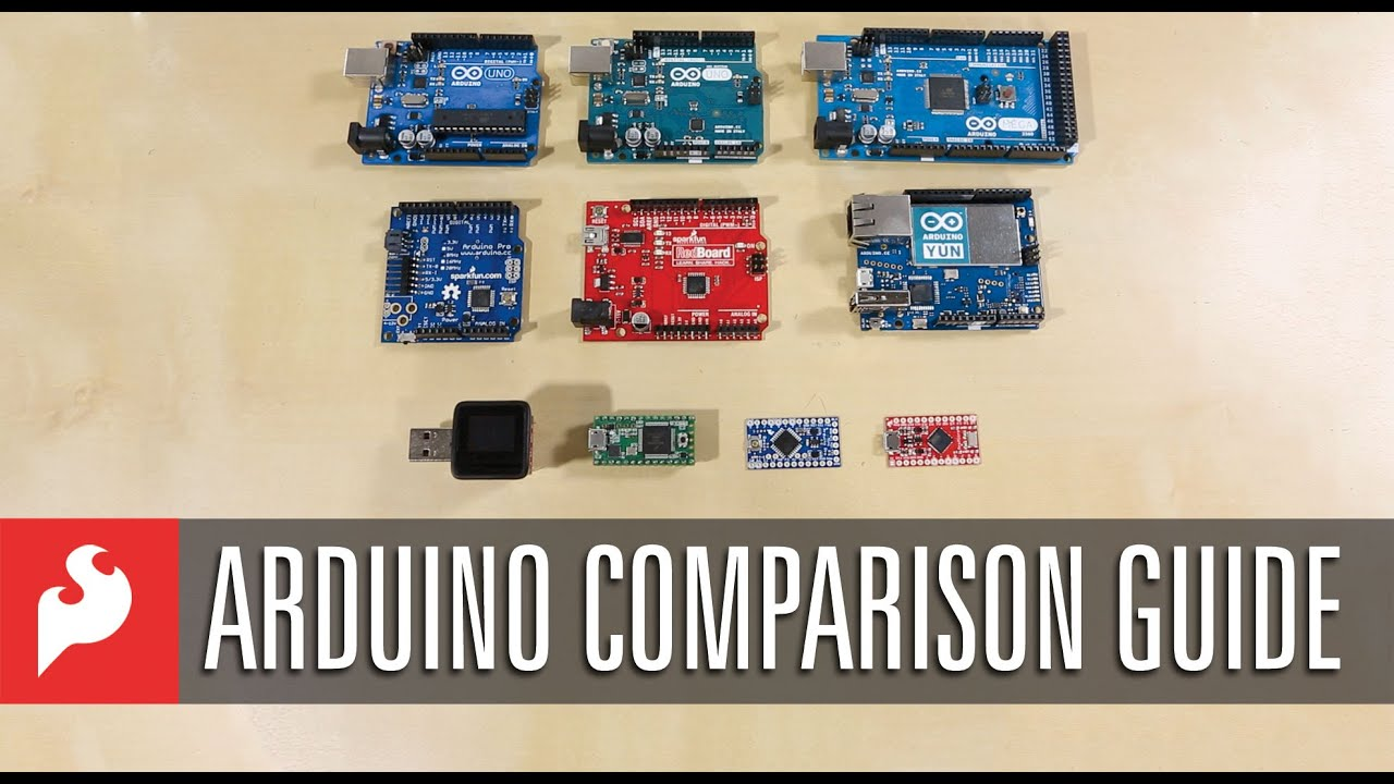 Sparkfun arduino comparison guide youtube