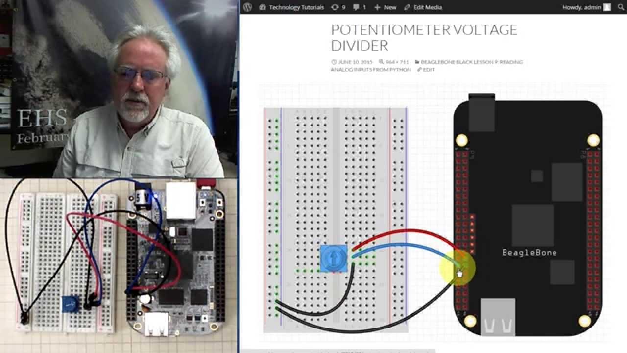 Beaglebone Black LESSON 9: Reading Analog Voltages from Python