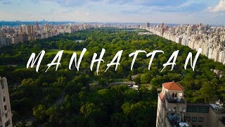 Manhattan City Skyline Drone Video (4K)