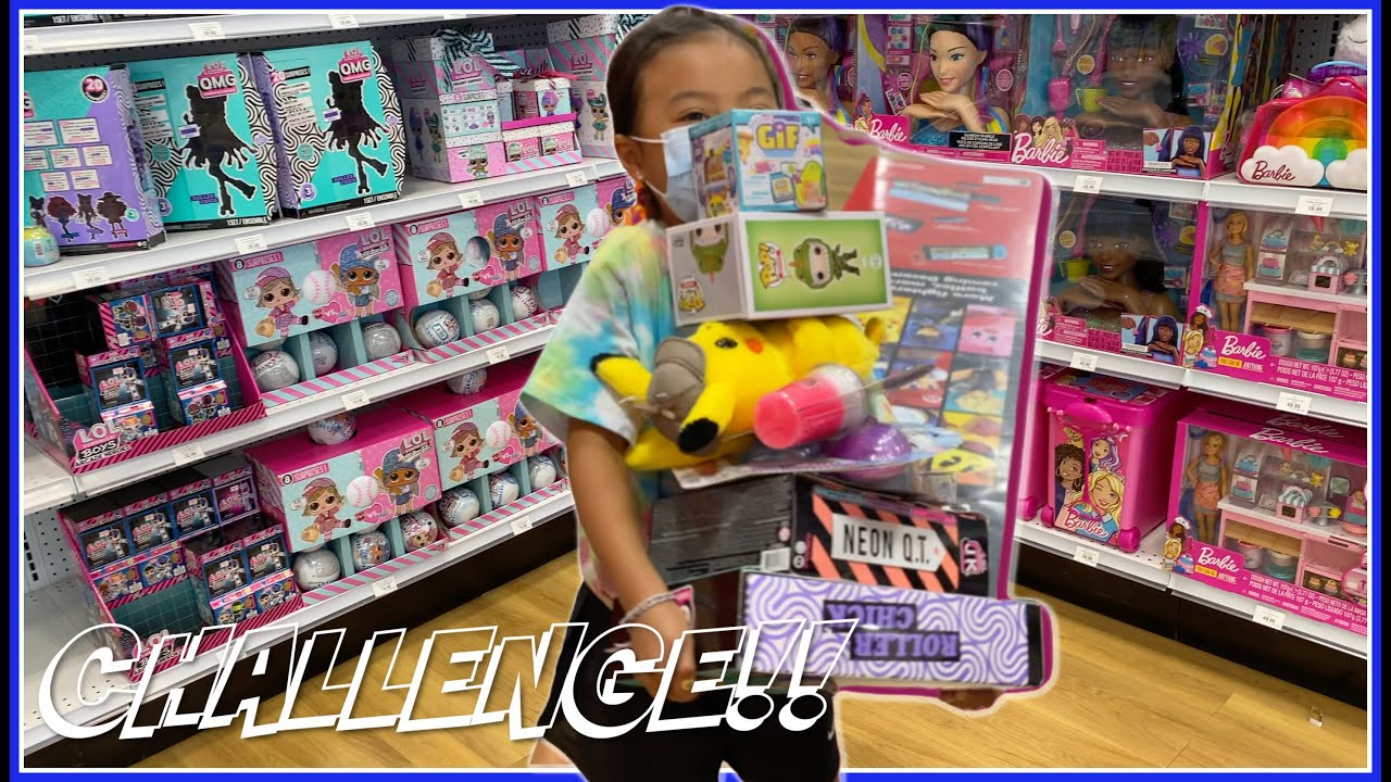 Anything you can carry I'll pay for challenge at TOYS R US |  Vlog with Emma