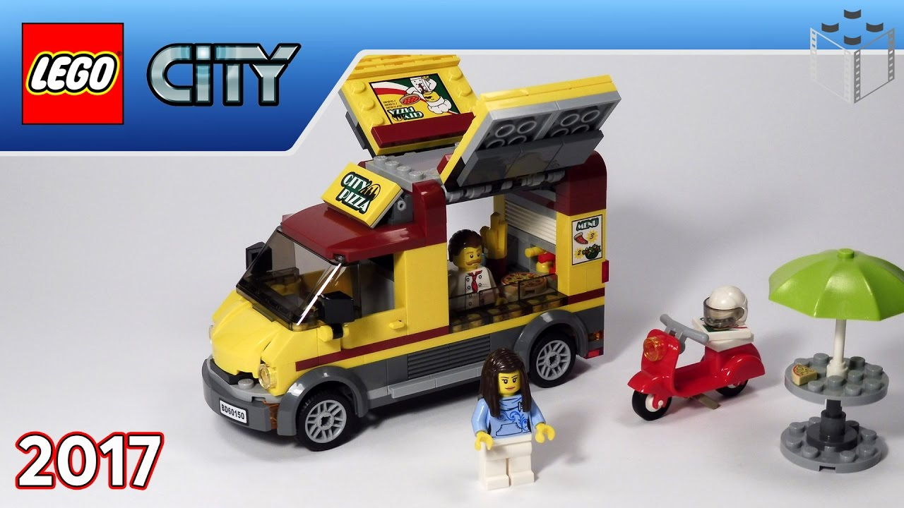 Lego 60150 City Foodtruck Z Pizzą Lego Speed Build Youtube