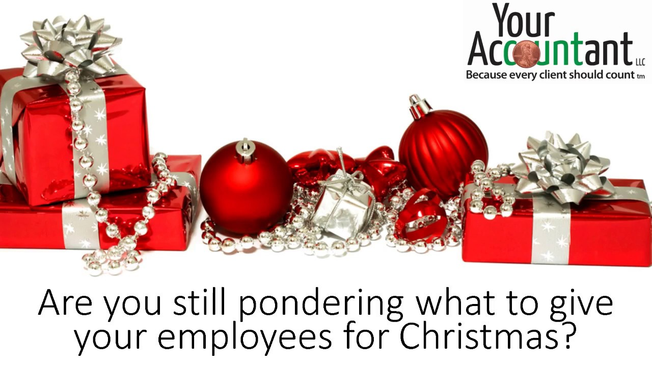Employee Christmas gift idea - tax preparation by CPA - YouTube