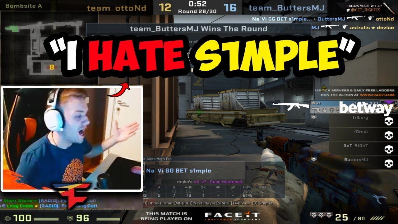 s1mple Plays Faceit Dust 2 - CSGO Twitch Clips