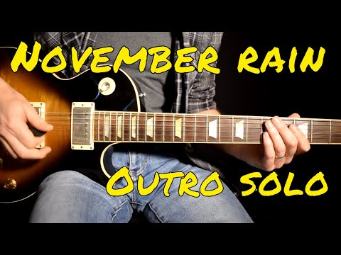 Guns n Roses – November Rain outro solo cover