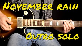 Guns n Roses - November Rain outro solo cover