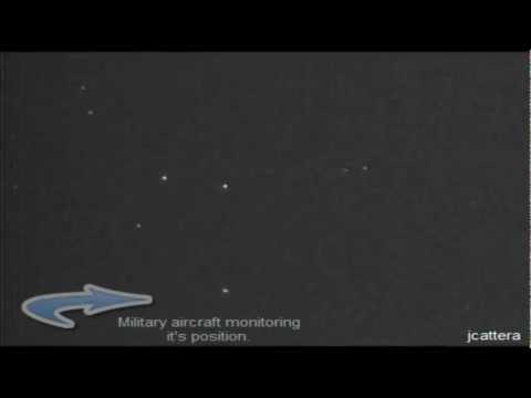 Triangle UFO - Captured with my Yukon 5x42 Night Vision (Infrared) Camera