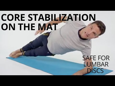 Low Back and Core Stabilization on the Mat Pilates for lower back. Safe for most disc injuries.