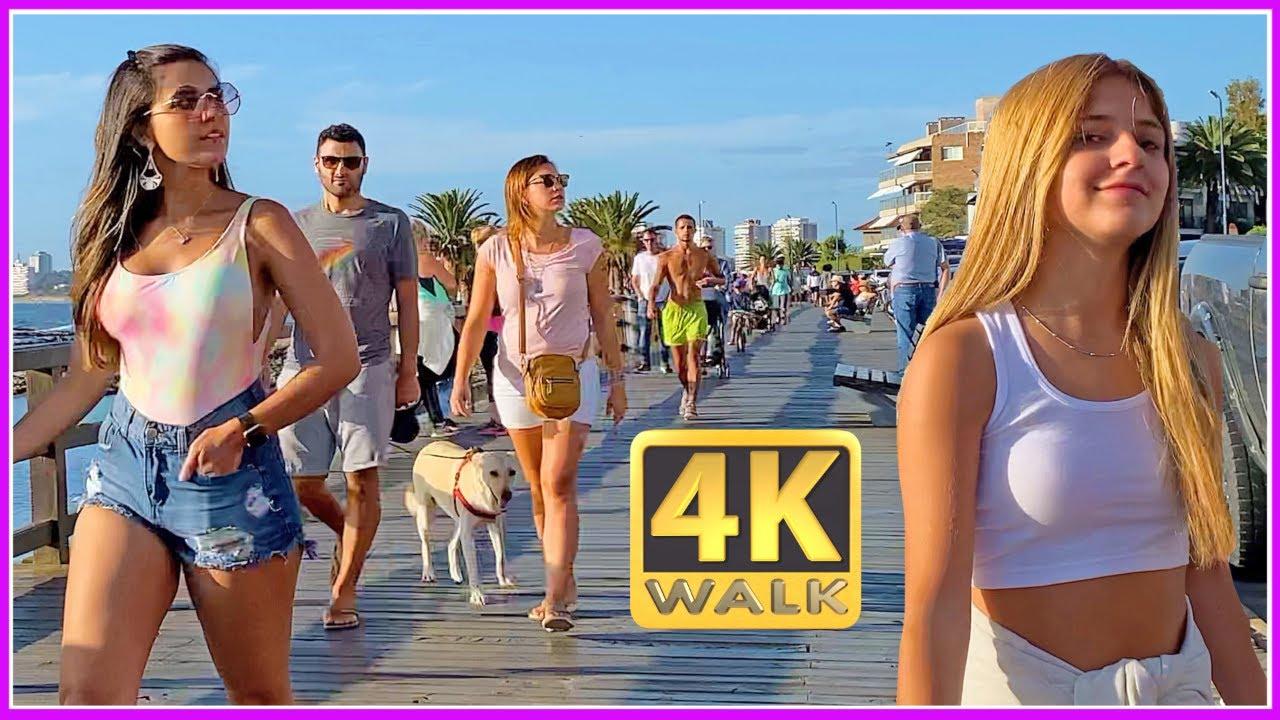 【4K】WALK PUNTA del ESTE URUGUAY 4k video SLOW TV travel vlog