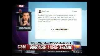 C5N - DECLARACIONES DE FREYRE: OPINA ANIBAL PACHANO