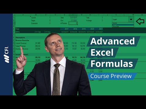 Advanced Excel Formulas - Course Preview | Corporate Finance Institute