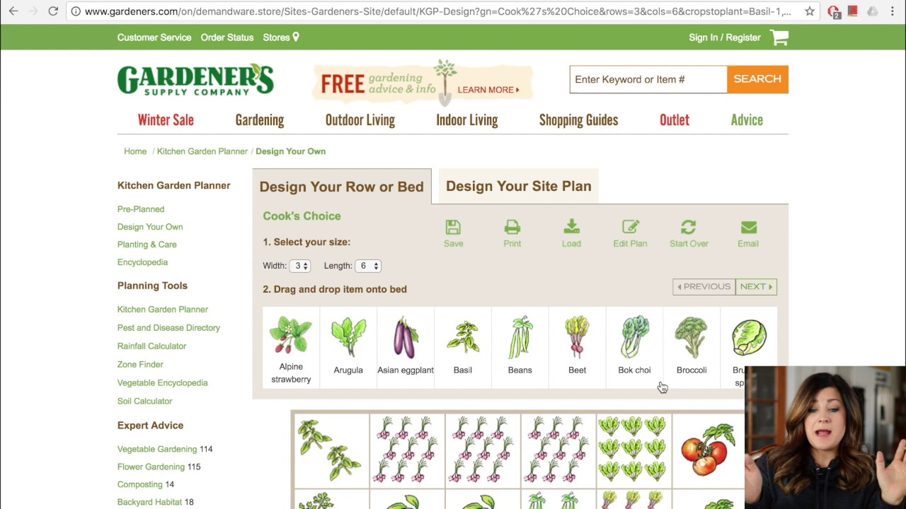 How to Use the Kitchen Garden Planner