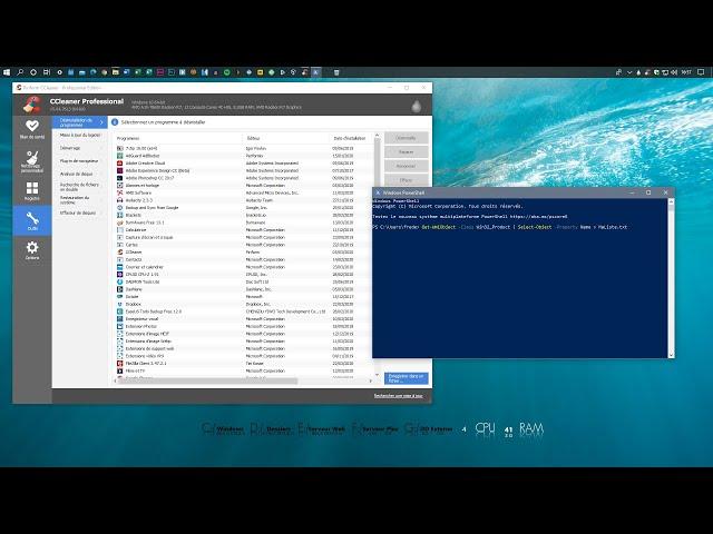 Récupérer la liste de tous les logiciels installés sur Windows 10