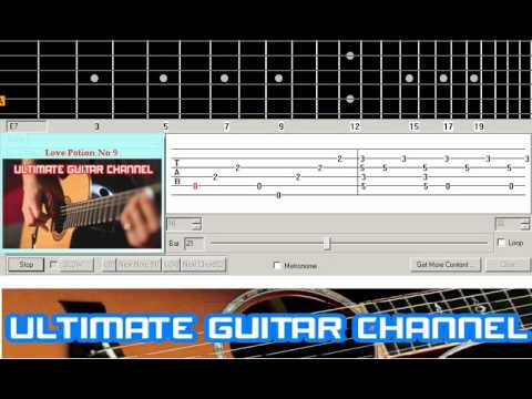 Guitar Solo Tab Love Potion No 9 The Searchers Youtube