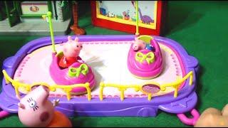 Мультфильм игрушками Свинка Пиги Pig Новая покупка в летний домик. Аттракцион