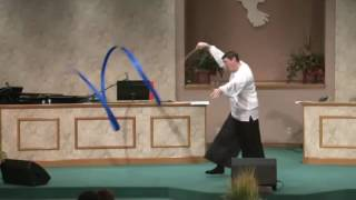 "Worship Flag Streamer Dance - Brad Worrell dancing to ""Holy Spirit""  by  FRANCESCA BATTISTELLIT"