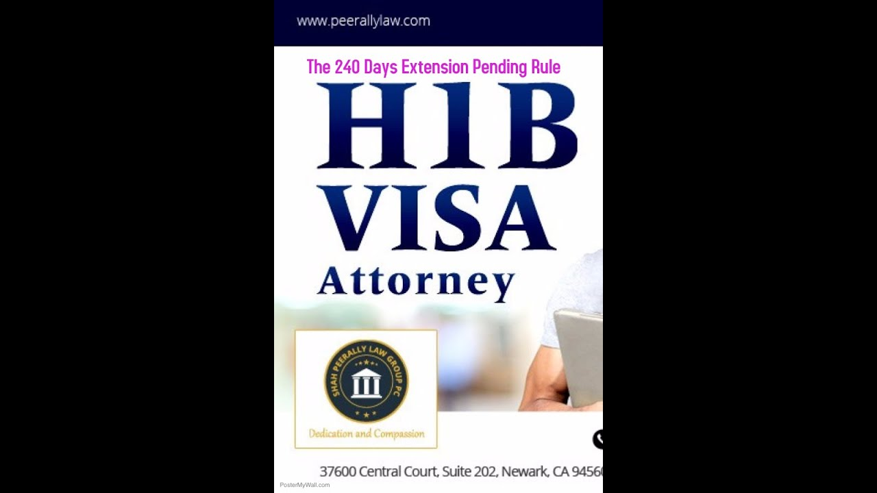 The 240 days rule on extension of H1B visas - Can I continue working?