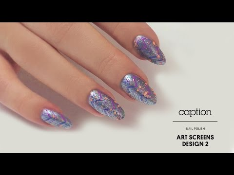 Caption Nail Polish Art Screens Design 2 Youtube