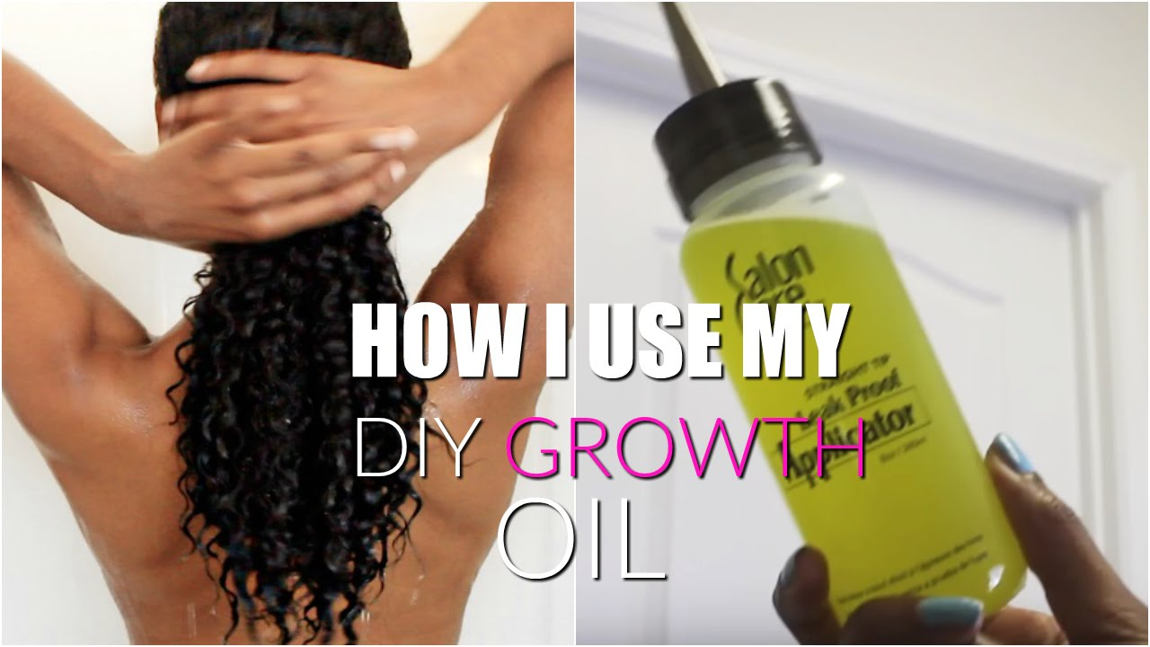 How I Use My Diy Growth Oil On My Natural Hair All Hair Types