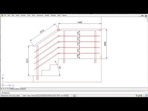 Kako Napraviti Ogradu Za Stepenište - Deo II , Crtanje Ograde U A-CAD-u.