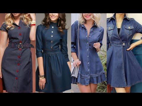 top-70+-women's-denim-dress-style/latest-plus-size-denim-dress-2019/2020