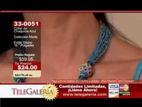 33,0051 Collar de Chaquiras Azul, Colección Moda