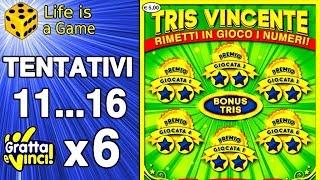 Gratta e vinci PACCO intero 2019   6 x TRIS VINCENTE #11...16